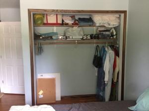 spare room - closet trim